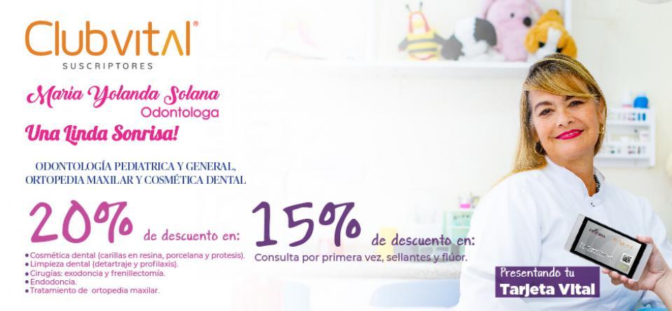 Dra. María Yolanda Solana Tinoco - Odontóloga